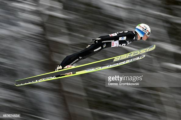 Rune Velta of Norway soars through the air during the FIS Ski Jumping World Cup on February 1 2015 in Willingen Germany