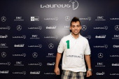 Runner Alan Fonteles Oliveira poses during day 3 of the 2013 Laureus World Sports Awards on March 11 2013 in Rio de Janeiro Brazil