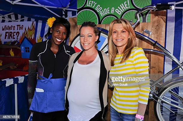 Runner Alysia Montano TV personality Kendra Wilkinson and TV Personality Vanna White attend Safe Kids Day Los Angeles 2014 at The Lot on April 5 2014...