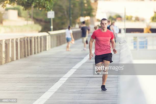 Runner in South Bank Brisbane