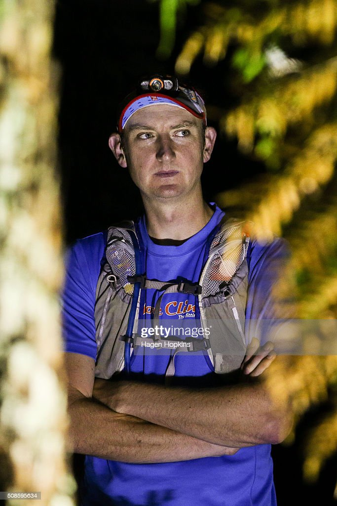 A runner looks on before the start of the Tarawera Ultramarathon on February 6, 2016 in Rotorua, New Zealand.