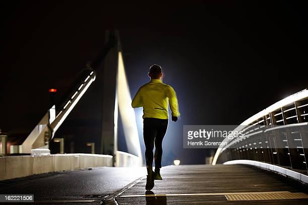 runner on bridge
