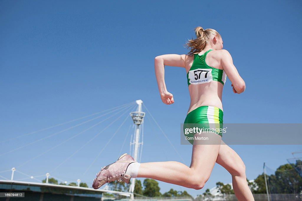 Runner on track : Stock Photo