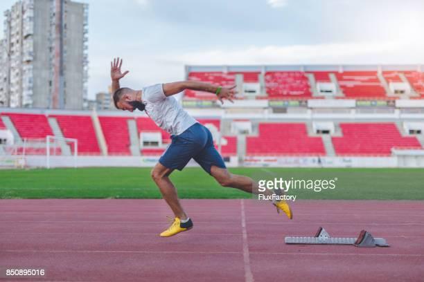 Läufer auf track