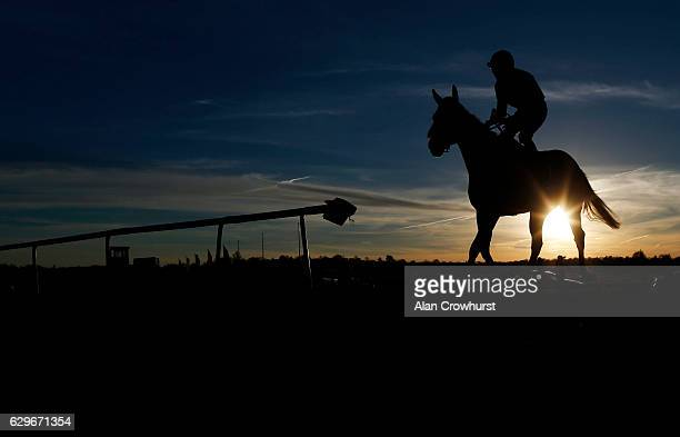 A runner returns after finishing at Lingfield Park on December14 2016 in Lingfield England
