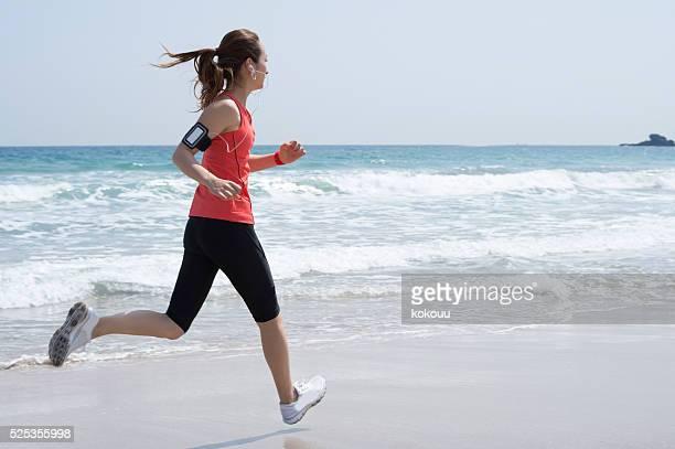 Runner running toward the target