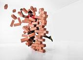 Runner shattering barrier