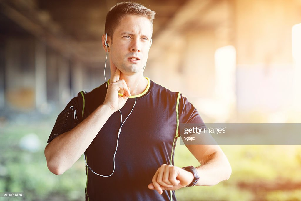 Runner Taking Pulse.