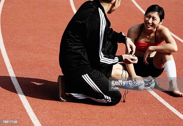 Runner Talking to Coach