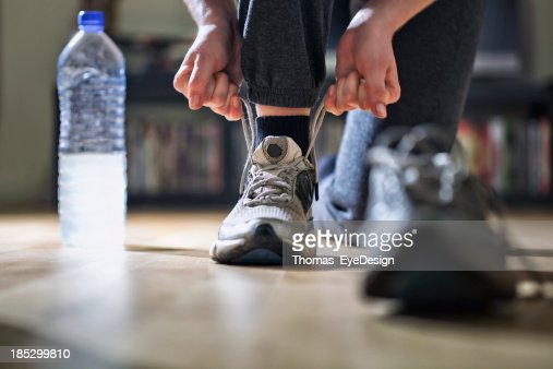 Runner Tying Her Shoes