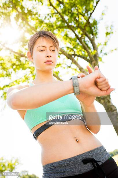 Runner with Fitness Watch