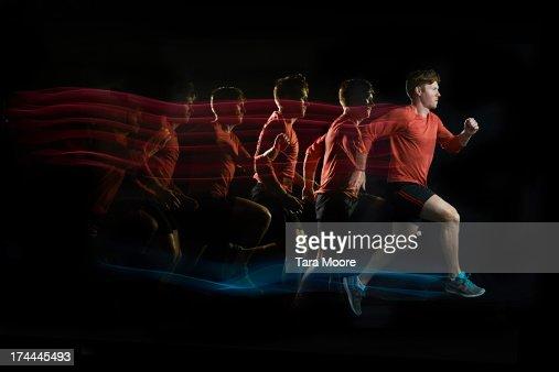 runner with multiple strobe