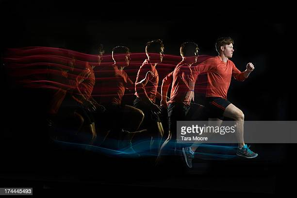 runner with multiple strobe