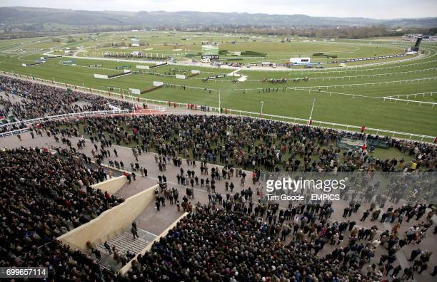 Runners and riders in the Betway Queen Mother Champion Chase during Ladies Day at the 2016 Cheltenham Festival at Cheltenham Racecourse