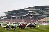 Runners and riders take part in the Sky Bet Supreme Novices' Hurdle Race on day one Champion Day of the Cheltenham Festival at Cheltenham Racecourse...