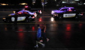 Runners arrive before dawn to increased security before the start of the Salt Lake City Marathon on April 20 2013 in Salt Lake City Utah Due to the...