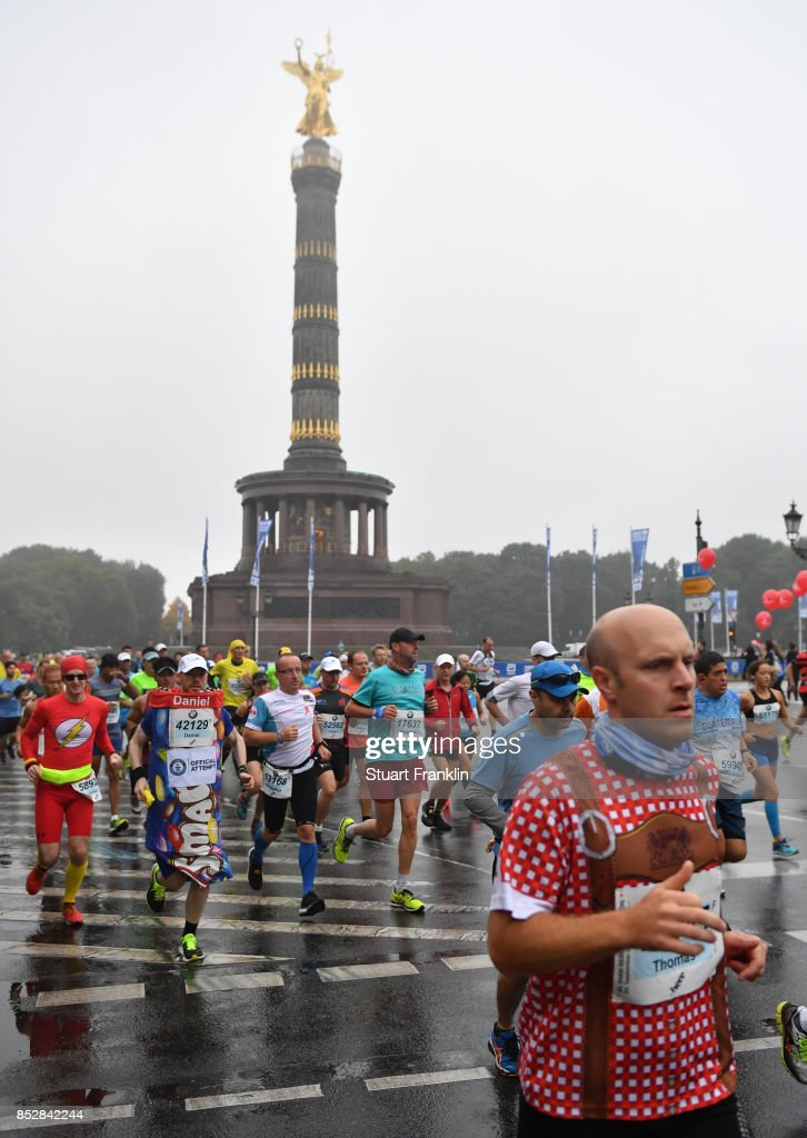 Runners at the start of the Berlin marathon on September 24, 2017 in Berlin, Germany.