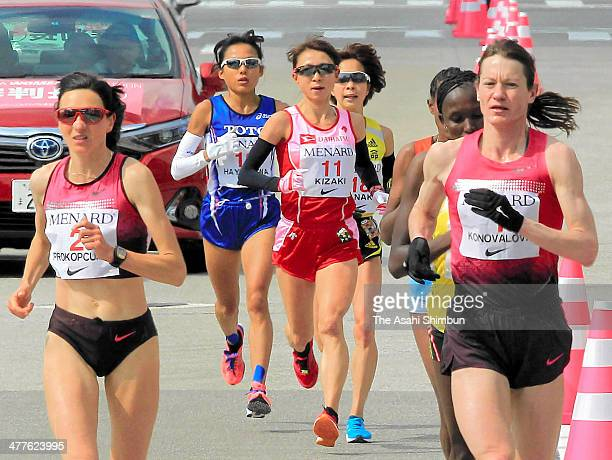 Runners compete during the Nagoya Women's Marathon 2014 on March 9 2014 in Nagoya Aichi Japan