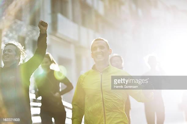 Runners in urban invironment