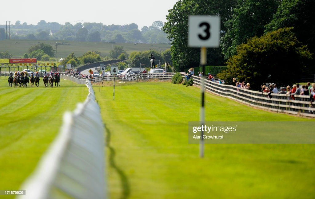 Runners leave the stalls in The Paddy Power Sprint at Curragh racecourse on June 29, 2013 in Kildare, Ireland.