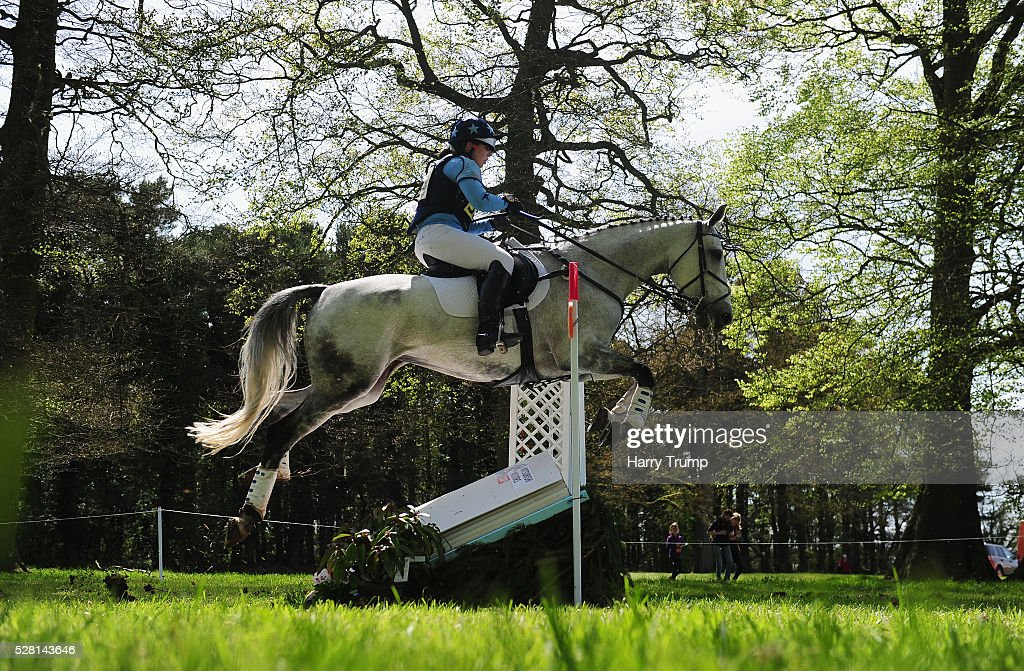Runners make their way around the course during the Mitsubishi Motors Cup Cross Country Race during Day One of the Badminton Horse Trials on May 4, 2016 in Badminton, Untied Kindom.