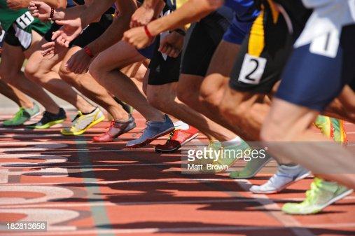 Runners on starting line