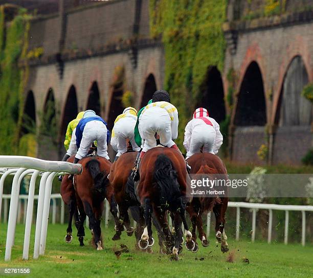 Runners take an early bend during The MBNA Europe Bank Chester Vase Stakes Race run at Chester Racecourse on May 5 2005 at Chester England