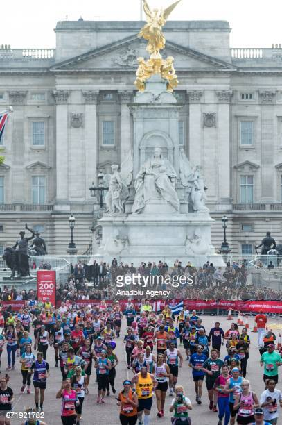 Runners take part in the Virgin Money London Marathon in London England on April 23 2017
