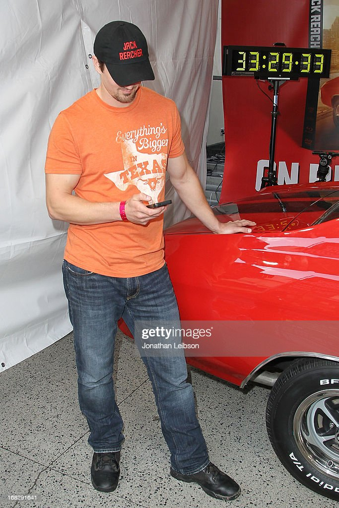 Runner-up Matt Waggoner at the 'Jack Reacher' Reach For Reacher Blu-Ray/DVD Launch And 1971 Chevelle SS Clone Car Giveaway at Hollywood & Highland Courtyard on May 7, 2013 in Hollywood, California.