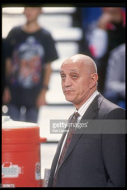 Runnin'' Rebels head coach Jerry Tarkanian looks on during a game Mandatory Credit Ken Levine /Allsport