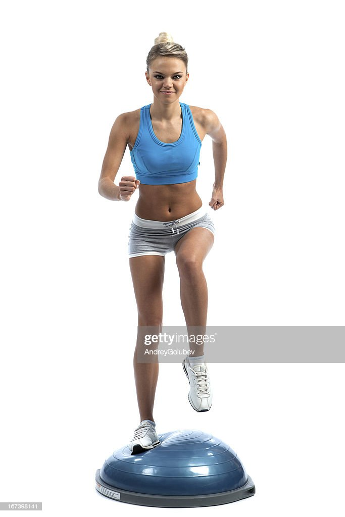 running a pretty girl : Stock Photo