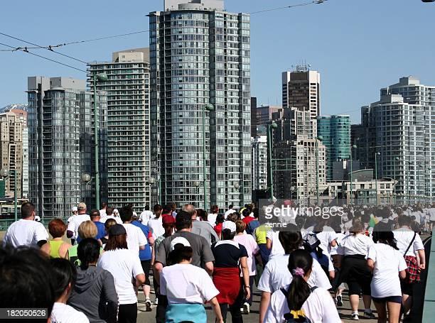 Running einem Wettkampf In Vancouver
