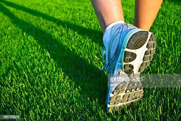 running a trail