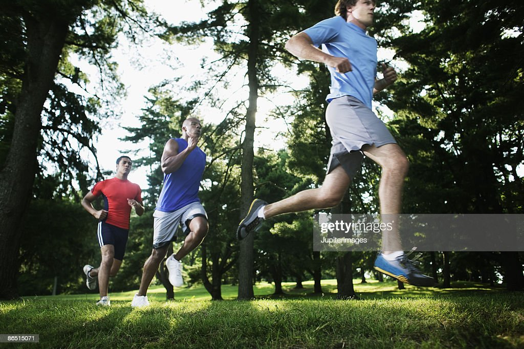 Running adults : Stock Photo