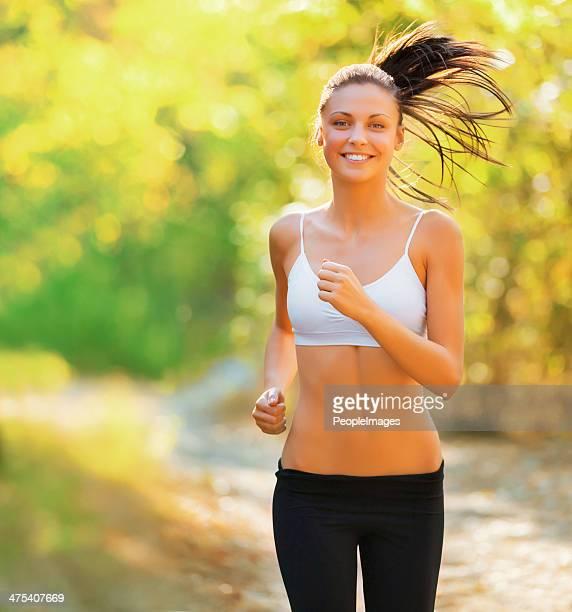 Running along her favorite trail