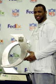 Running back Ahman Green of the Green Bay Packers was chosen as the FedEx Ground NFL Player of the Year during Super Bowl XXXVIII week on January 28...