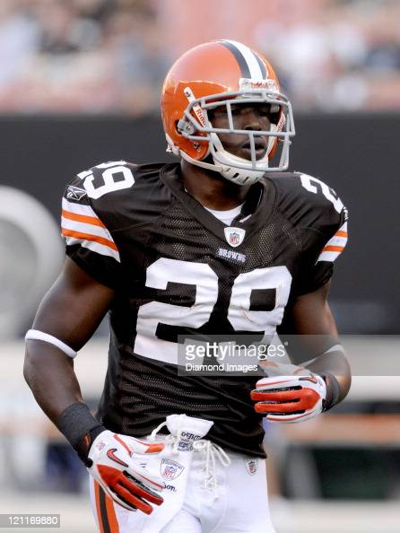 Running back Brandon Jackson of the Cleveland Browns runs off the field prior to a preseason game against the Green Bay Packers on August 13 2011 at...