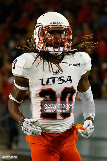 Running back Brett Winnegan of the UTSA Roadrunners during the college football game against the Arizona Wildcats at Arizona Stadium on September 3...