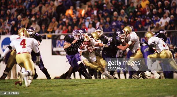 Running back Chuck Moore of Mount Union College runs for a 36yard touchdown against Bridgewater College during the Division 3 Men's Football...