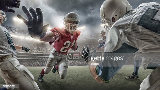Running Back in American Football Action