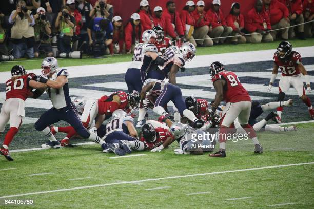 Running Back James White of the New England Patriots scores a Touchdown during the Super Bowl LI between the New England Patriots and Atlanta Falcon...