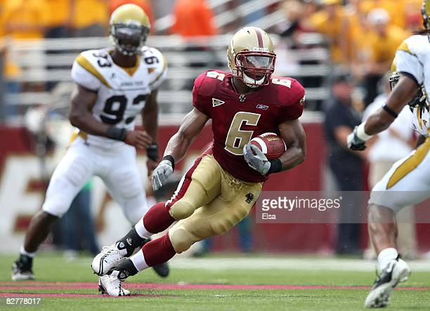 Running back Jeff Smith of the Boston College Eagles runs with the ball during their game against the Georgia Tech Yellow Jackets on September 6 2008...