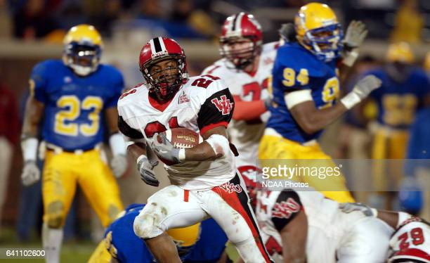 Running back Jon Frazier of Western Kentucky races into the endzone for a 14yard touchdown against McNeese State during the Division 1AA Football...