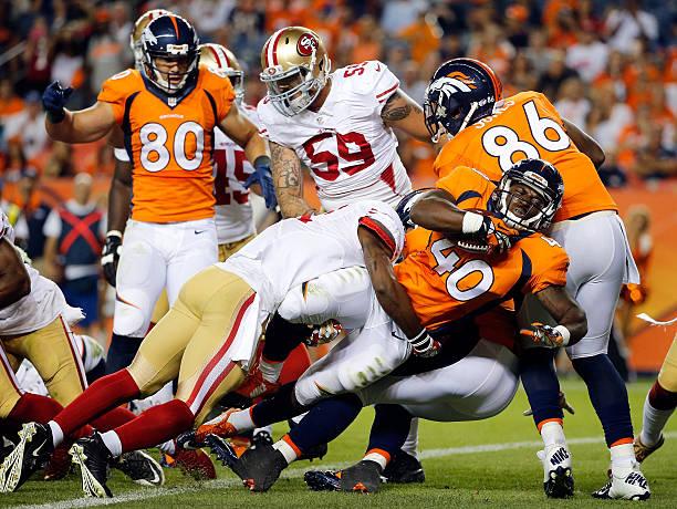 ... San Francisco 49ers v Denver Broncos Denver Broncos v San Diego  Chargers vinnie sunseri 40 jersey ... d6c34b723
