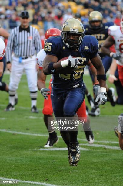 Running back LeSean McCoy of the University of Pittsburgh Panthers runs with the football during a Big East Conference college football game against...