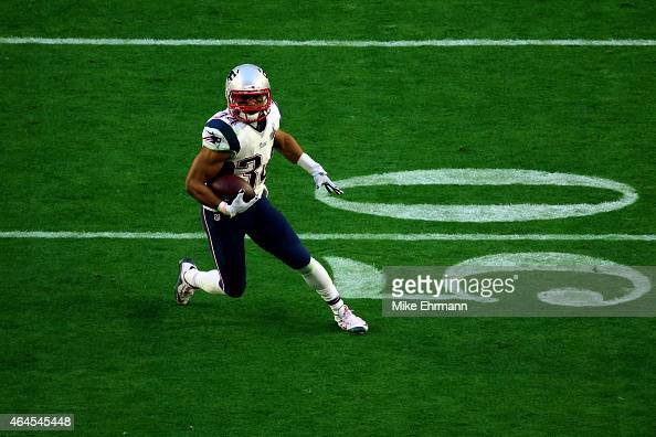 Running back Shane Vereen of the New England Patriots in action against the Seattle Seahawks during Super Bowl XLIX at University of Phoenix Stadium...