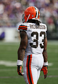 Running back Trent Richardson of the Cleveland Browns walks off the field during the second half against the Baltimore Ravens at MT Bank Stadium on...