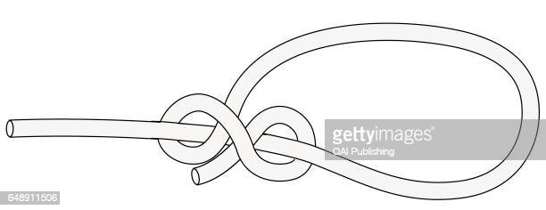 Running bowline Knot pulled tight around an object to hold it in place