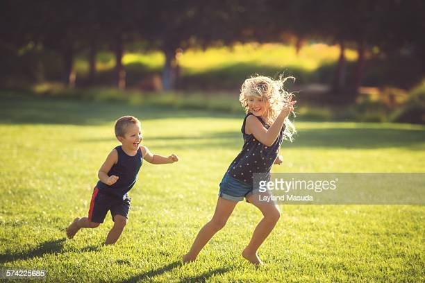 Running - Brother And Sister Play