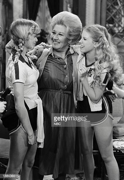 LIFE 'Running' Episode 11 Aired 3/21/80 Pictured Julie Anne Haddock as Cindy Charlotte Rae as Mrs Edna Ann Garrett Julie Piekarski as Sue Ann Weaver